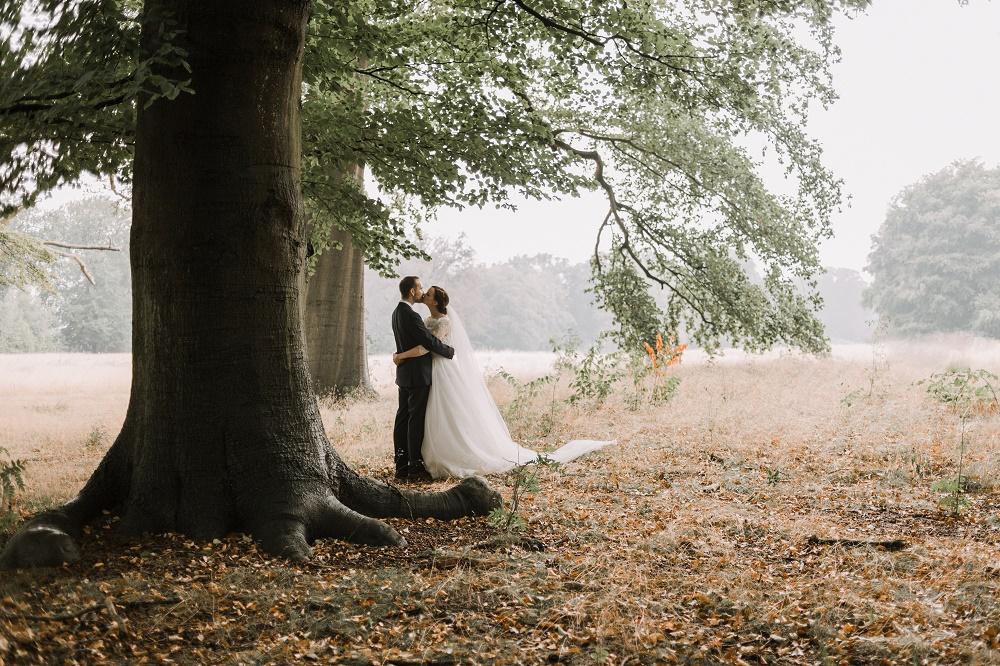 trouwshoot in Parc Broekhuizen