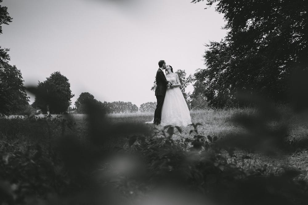 zwart wit trouwfoto