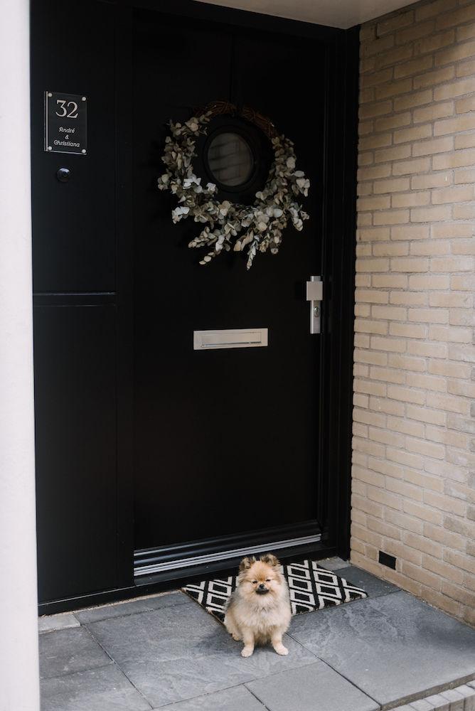 krans op de voordeur