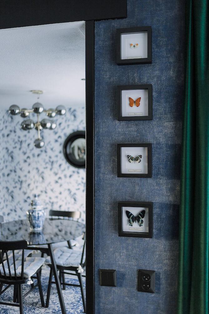 vlinders in lijst van de museumwinkel