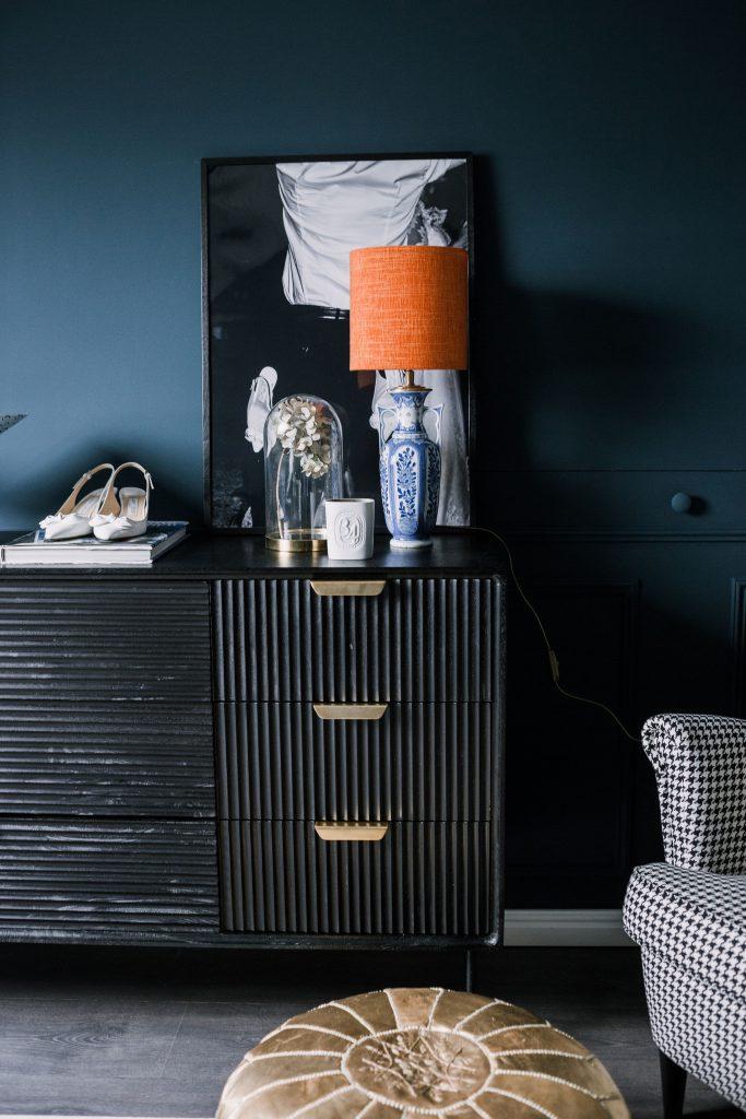Delfts blauwe lamp Madame garage