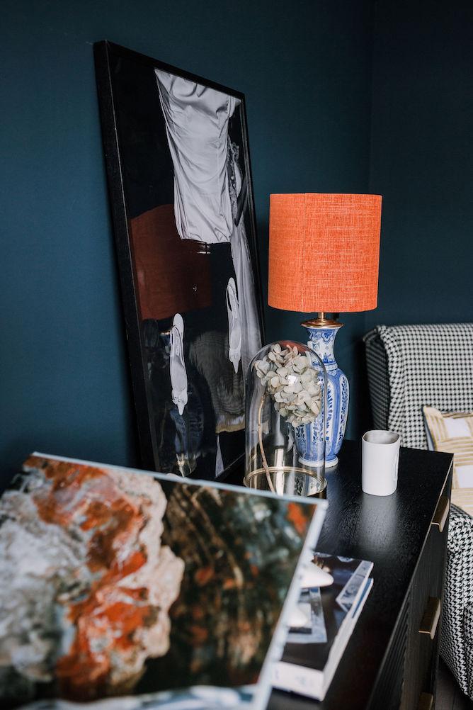 Delfts blauwe lamp