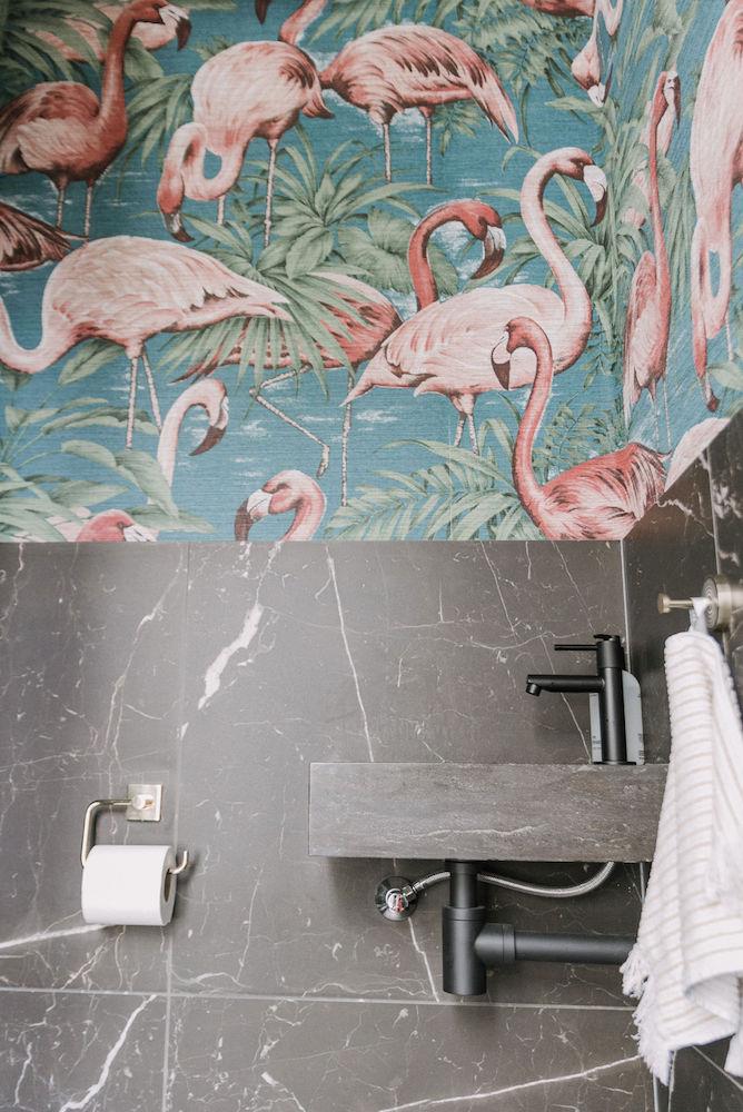 Arte avalon flamingo behang